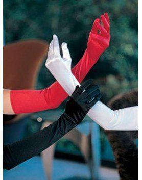 guantes largos blancos