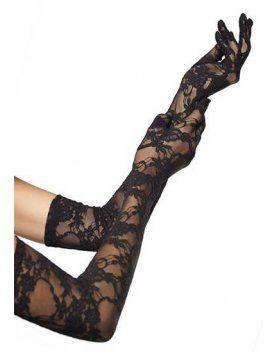 leg avenue guantes opera altos de encaje negro