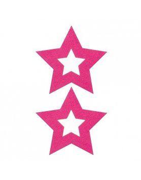 adhesivos para pezones estrella rosa