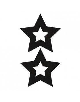 adhesivos para pezones estrella negro