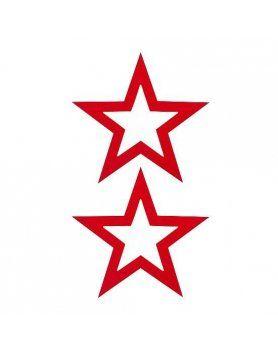 adhesivos para pezones estrella rojo