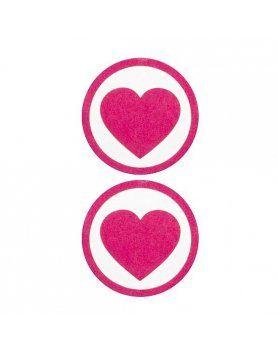 adhesivos para pezones corazon rosa
