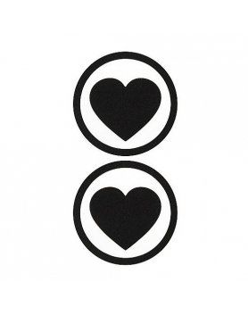 adhesivos para pezones corazon negro