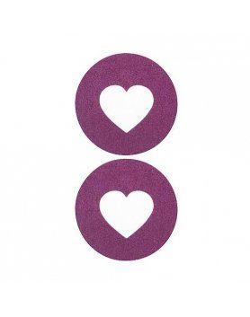 adhesivos para pezones corazon lila