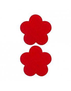 adhesivos para pezones flor rojo