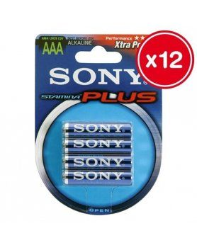 lr03 aaa sony stamina plus 4 uds 12 unidades