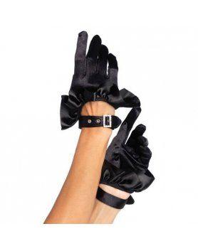 leg avenue guantes con volante y hebilla de strass
