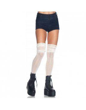 leg avenue calcetines puntilla fruncidos marfil