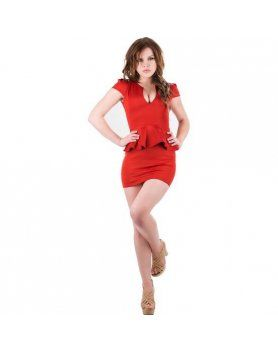purpura concept vestido parla rojo