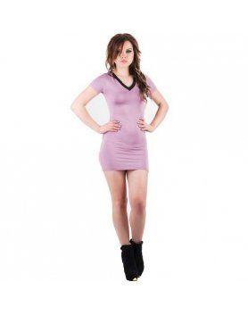 purpura concept vestido vichy morado