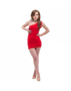 purpura concept vestido ovar rojo