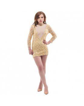purpura concept vestido nilo dorado