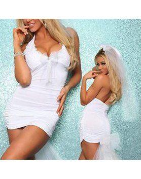 vestido novia sexy blanco