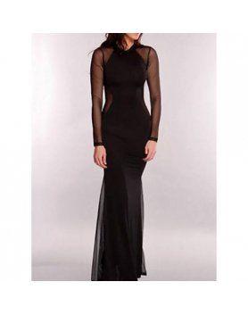 vestido largo ceremonia negro