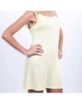 vestido veraniego amarillo