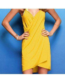 vestido playero amarillo