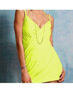 vestido playero verde