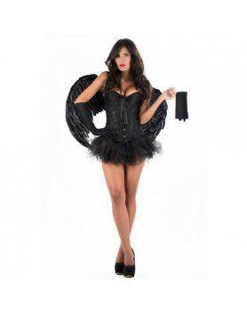 picaresque disfraz angel ruth negro