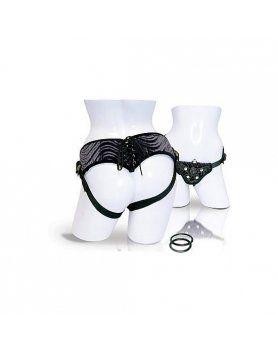 arnes corsette con bala vibradora negro