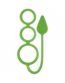 anillos pequeños circus neon verde