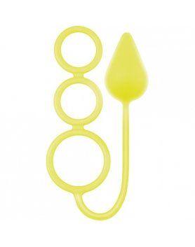 anillos medianos circus neon amarillo