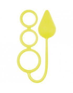 anillos grandes circus neon amarillo
