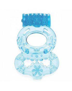 anillo vibracion testiculos y pene azul
