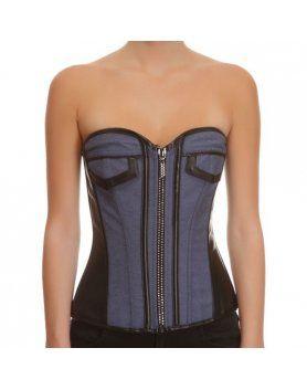 corset jeans negro