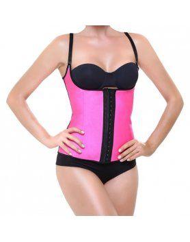 corset latex shape fucsia