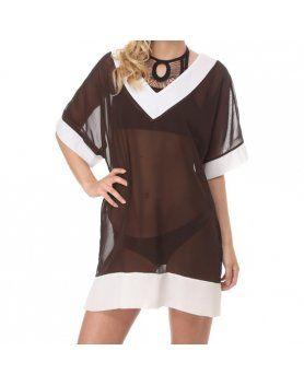 vestido gorgona marrón