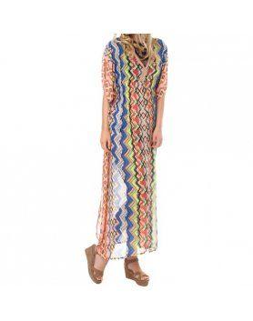 vestido mozia multicolor