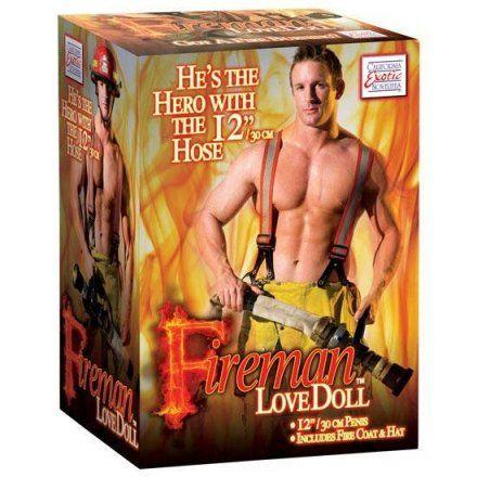 Muñeco sexual realista hichable de bombero en Vibrashop