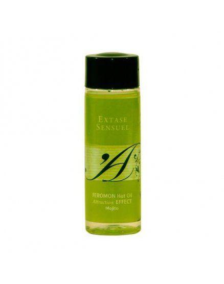 extase sensuel aceite de masaje efecto calor con feromonas mojito VIBRASHOP