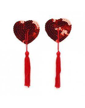 pezoneras rojas de lentejuelas VIBRASHOP