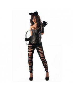 picaresque disfraz catwoman yasmin negro VIBRASHOP