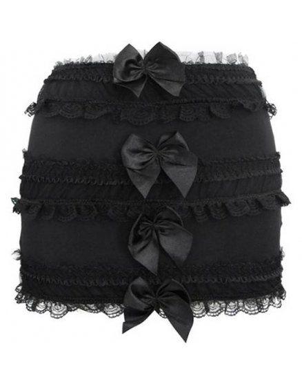 falda lazos sexy negro VIBRASHOP