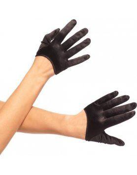 leg avenue guantes cortos saten negro