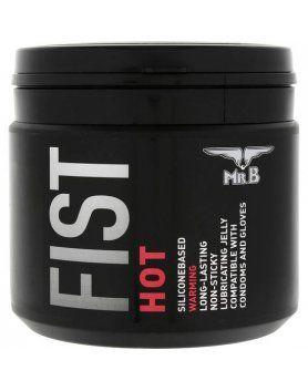 mister b fist lubricante silicona efecto calor 500 ml VIBRASHOP