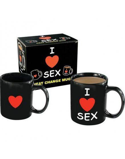 taza con mensaje i love sex VIBRASHOP