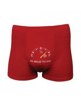 funny boxers 45 miles to go rojo VIBRASHOP