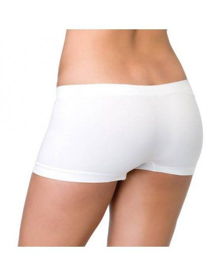 leg avenue braguita short de color blanco VIBRASHOP