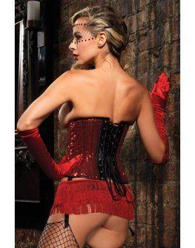leg avenue mini falda de flecos rojos VIBRASHOP