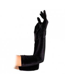 leg avenue guantes extra largos negros aterciopelados VIBRASHOP