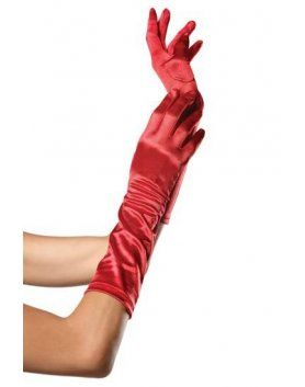 leg avenue guantes satinados de color rojo VIBRASHOP