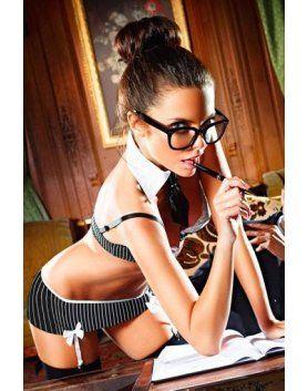 baci disfraz de secretaria sensual VIBRASHOP