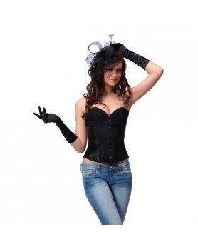 intimax corset negro purpurina VIBRASHOP