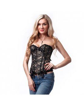 intimax corset noche marron VIBRASHOP