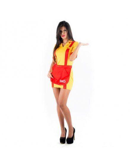 picaresque disfraz camarera amarillo VIBRASHOP