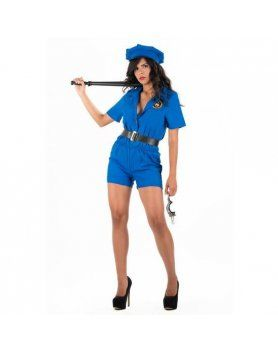 picaresque disfraz police olaya azul VIBRASHOP