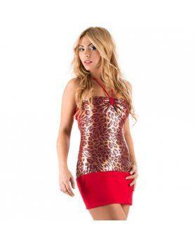 vestido montecarlo leopardo VIBRASHOP